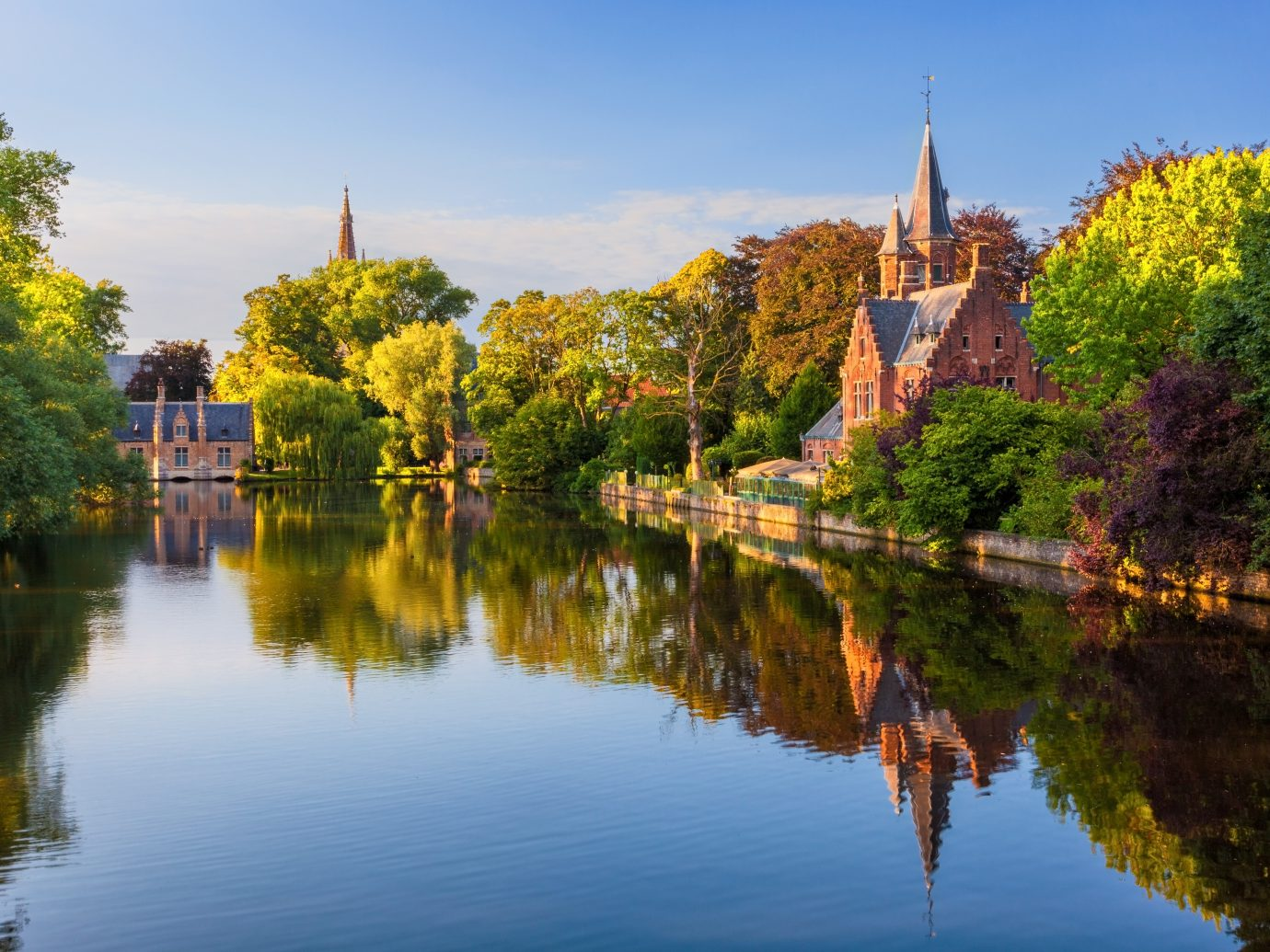 The Minnewater in historic Bruges