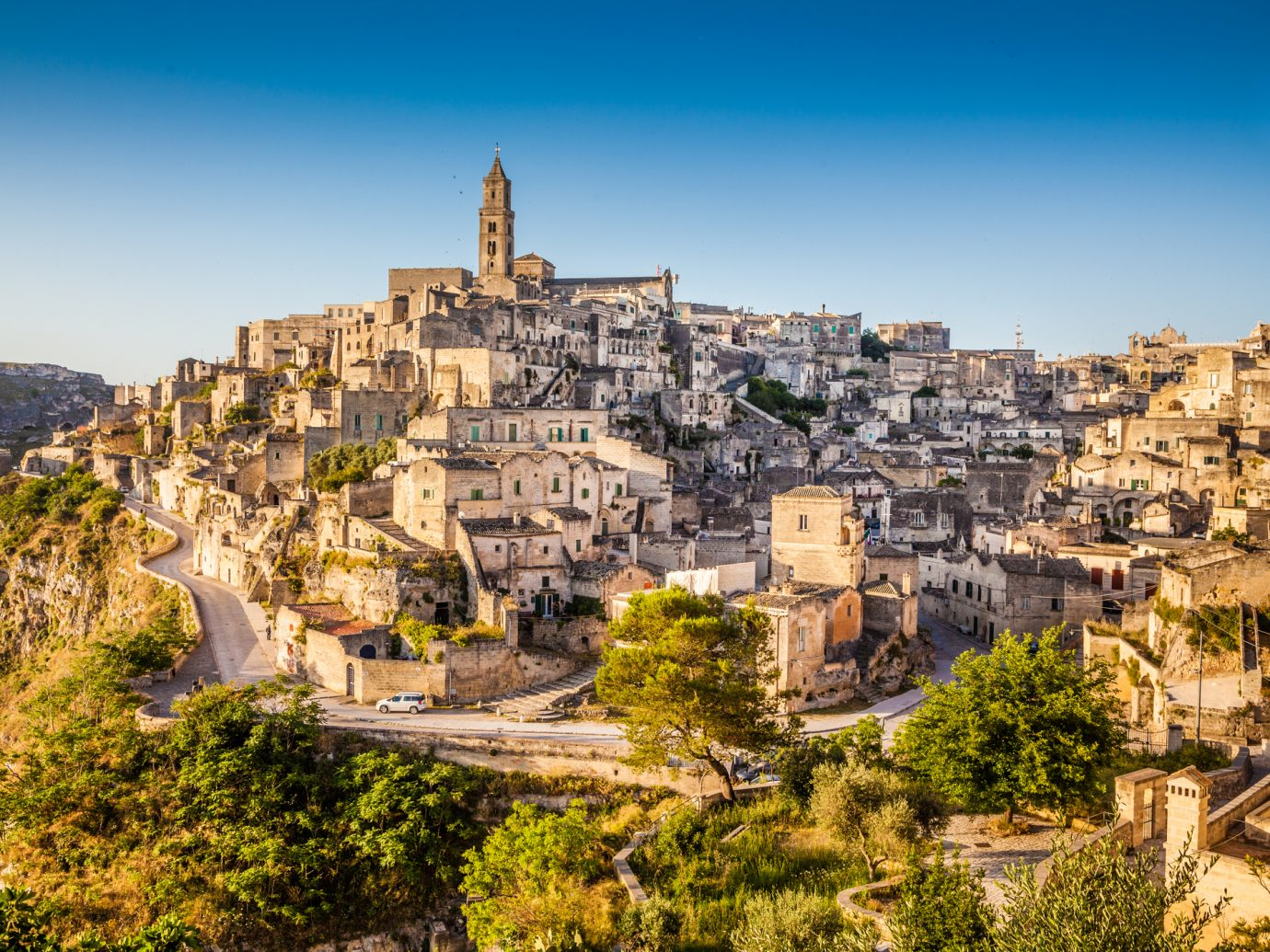 Ancient town of Matera southern Italy.