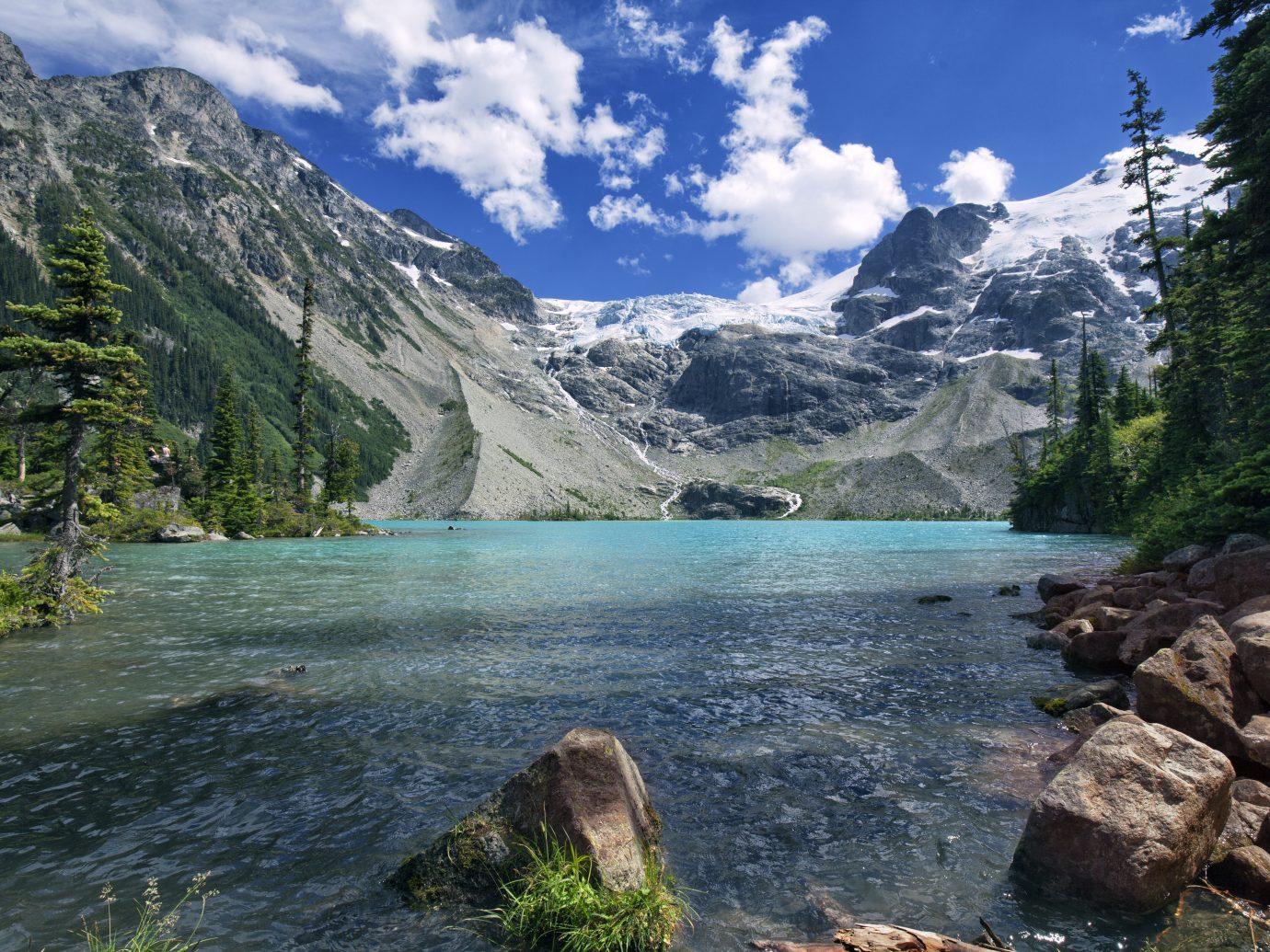 Upper Joffre Lake in summer in Pemberton, BC, Canada