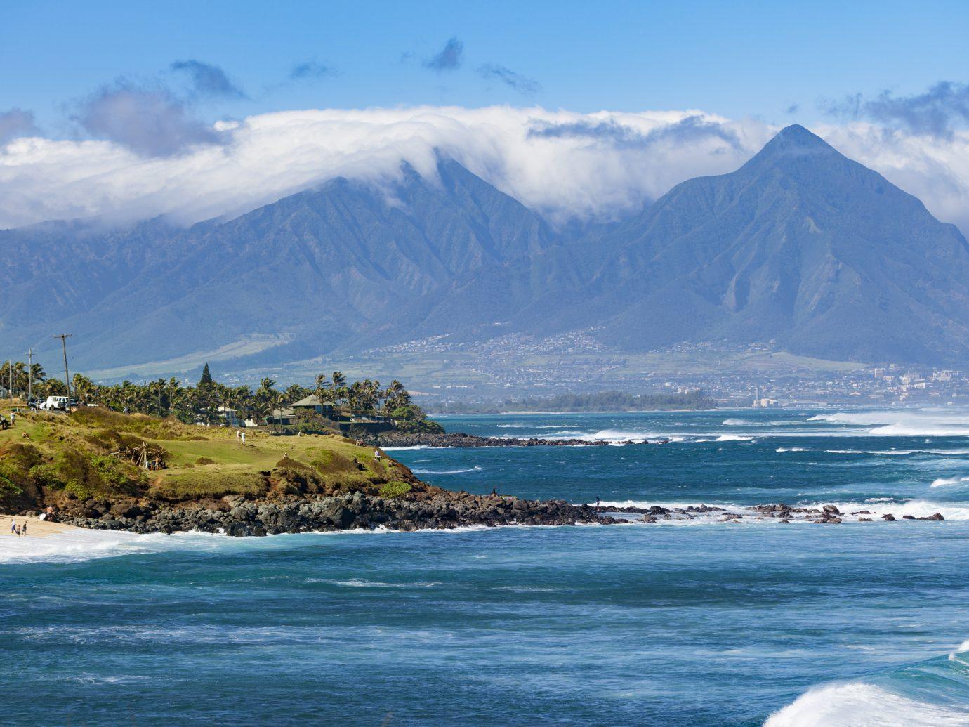hookipa bay, beach on maui island, hawaii islands.
