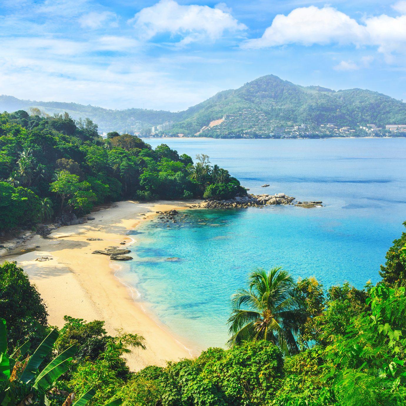 Exotic views through the jungle to Laem sing beach in Thailand