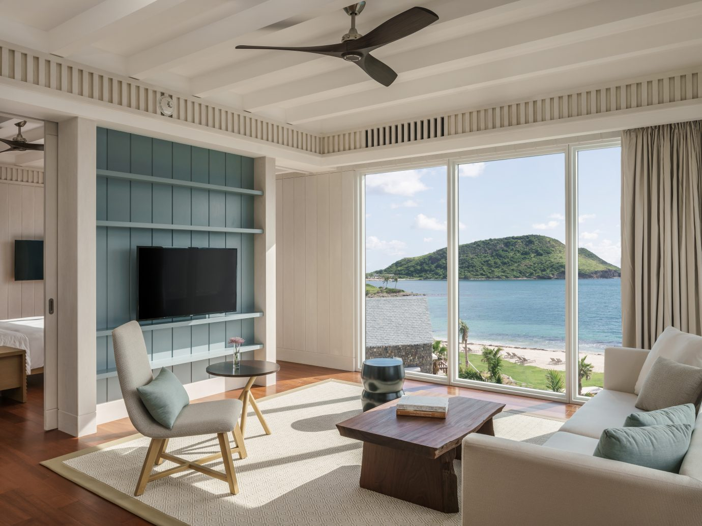 Living Room in the executive suite at the Park Hyatt St. Kitts