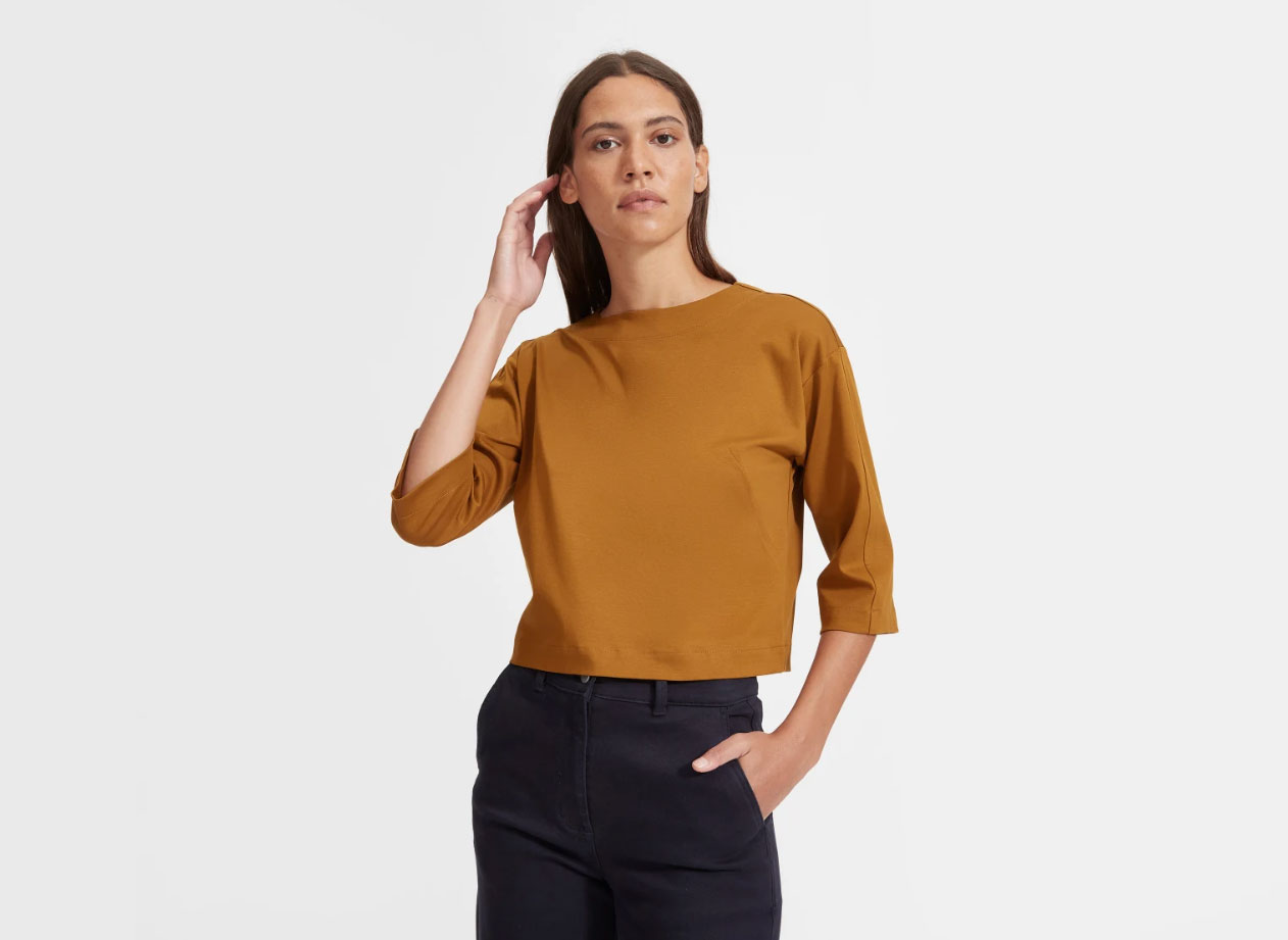 Everlane The Luxe Cotton Crop Tee