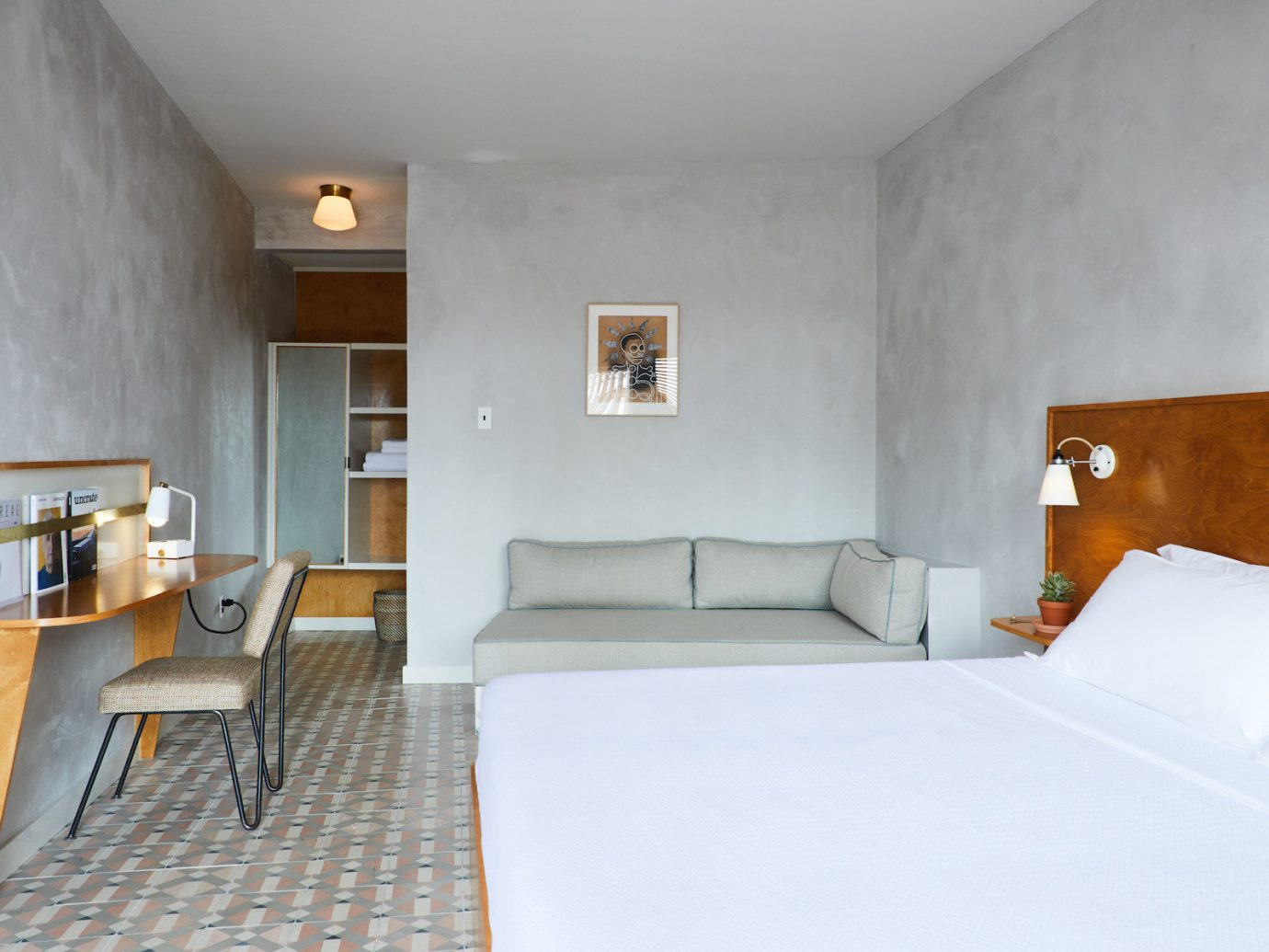 Bedroom at The Drifter Motel in New Orleans