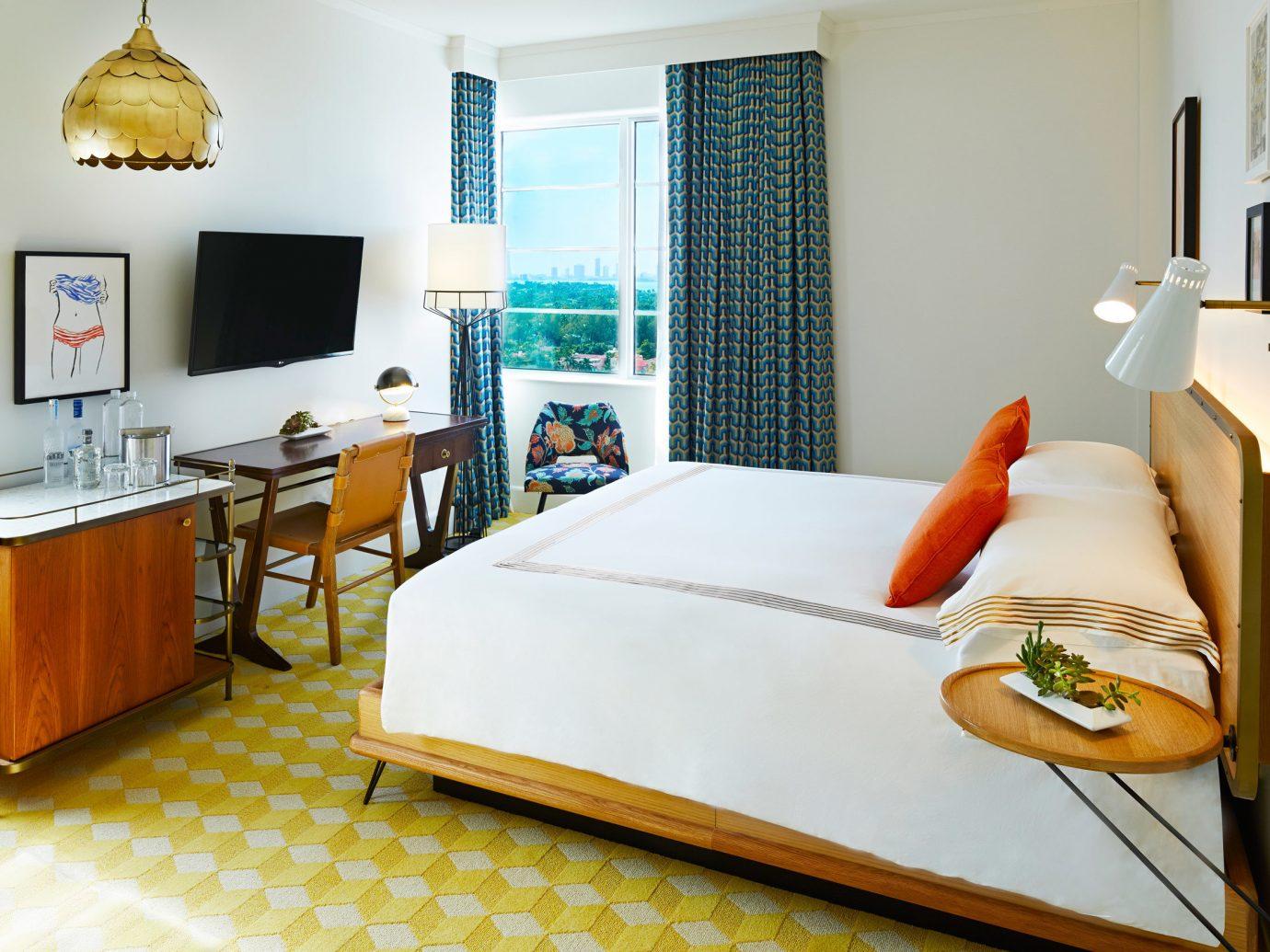 Bedroom at The Confidante Miami, FL