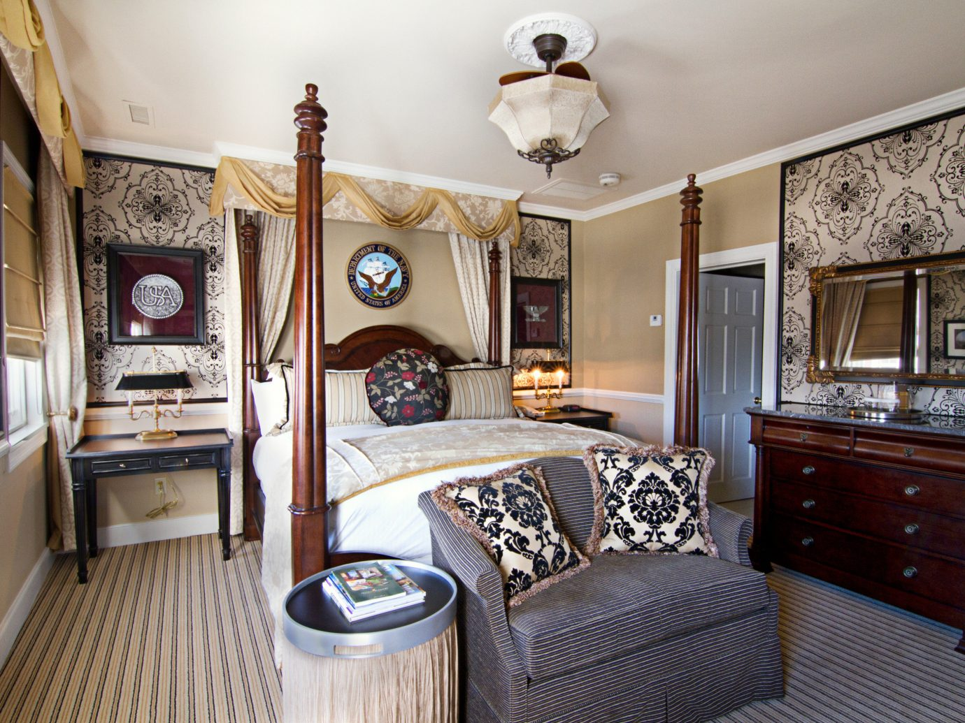 Bedroom at the Vendue Hotel in Charleston