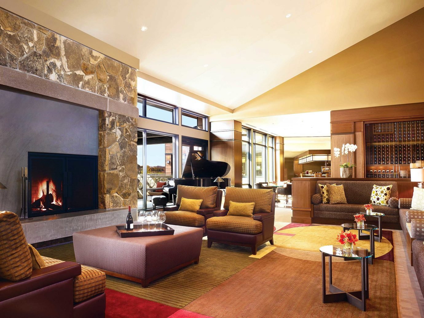 Living room at Allison Inn & Spa