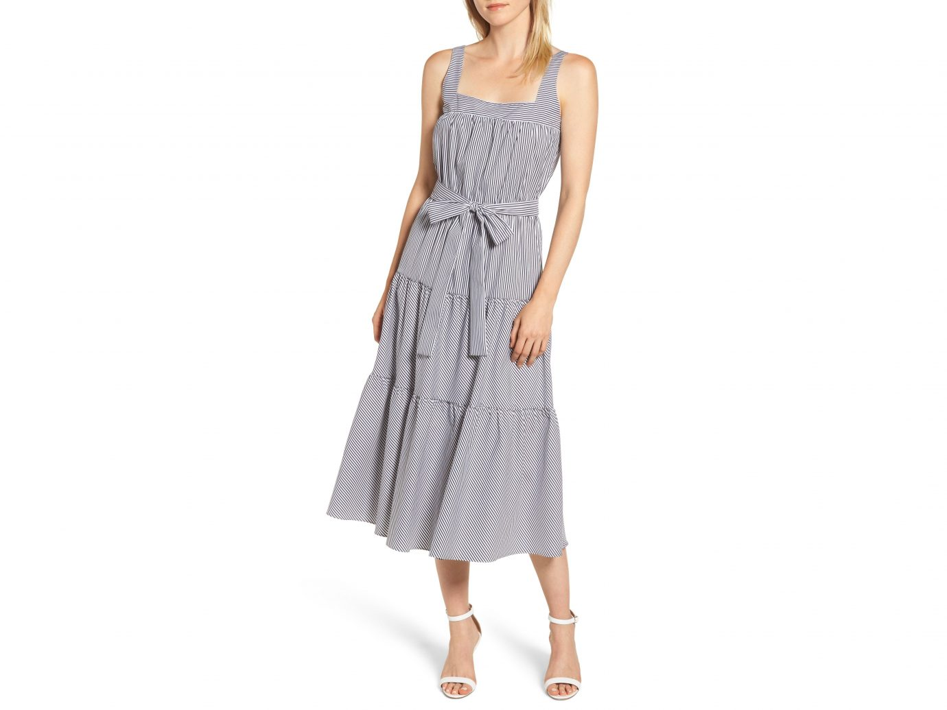 MICHAEL Michael Kors Striped Midi Shift Dress