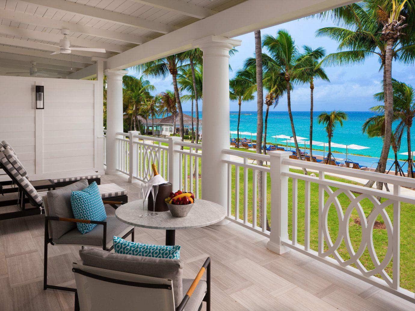 Balcony overlooking the ocean at Four Seasons Ocean Club Bahamas