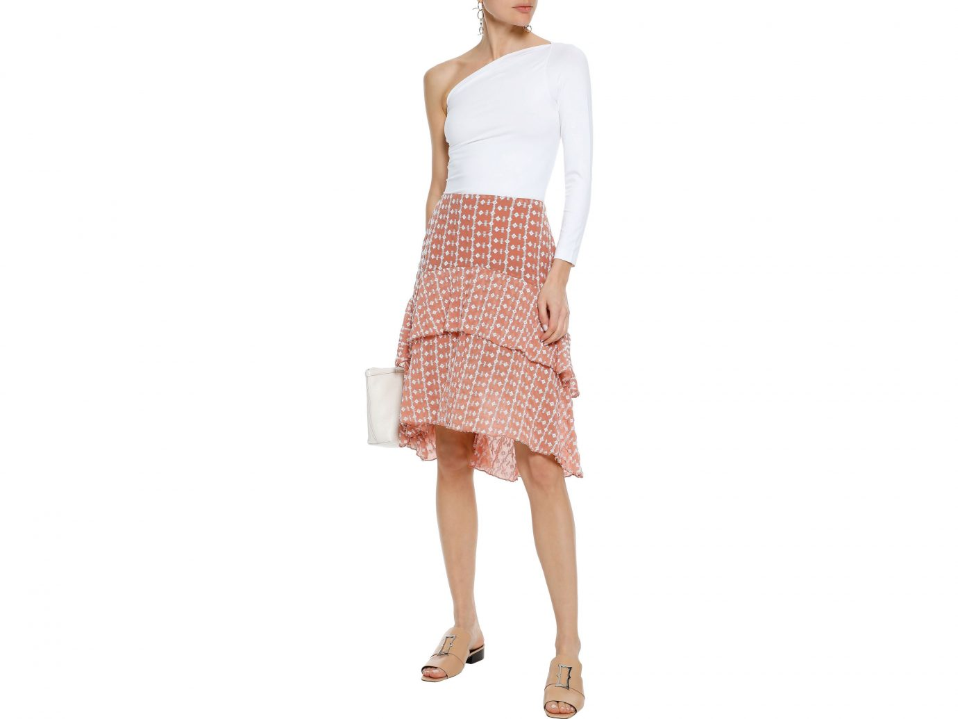 W118 by Walter Baker Jeannie Layered Embroidered Chiffon Skirt