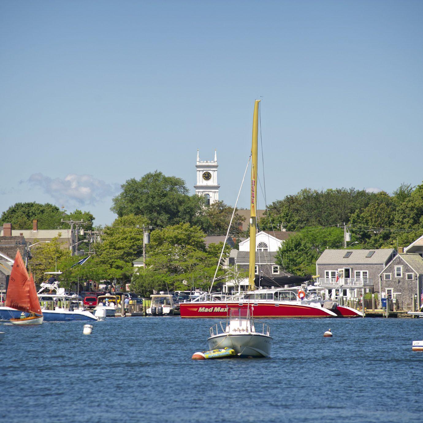 View of Martha's Vineyard harbor