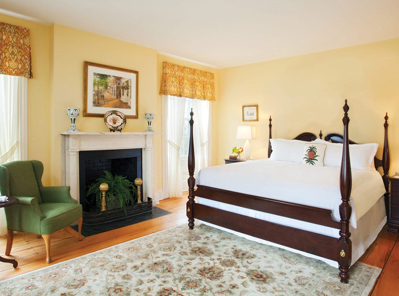 Bedroom at Jared Coffin House in Nantucket