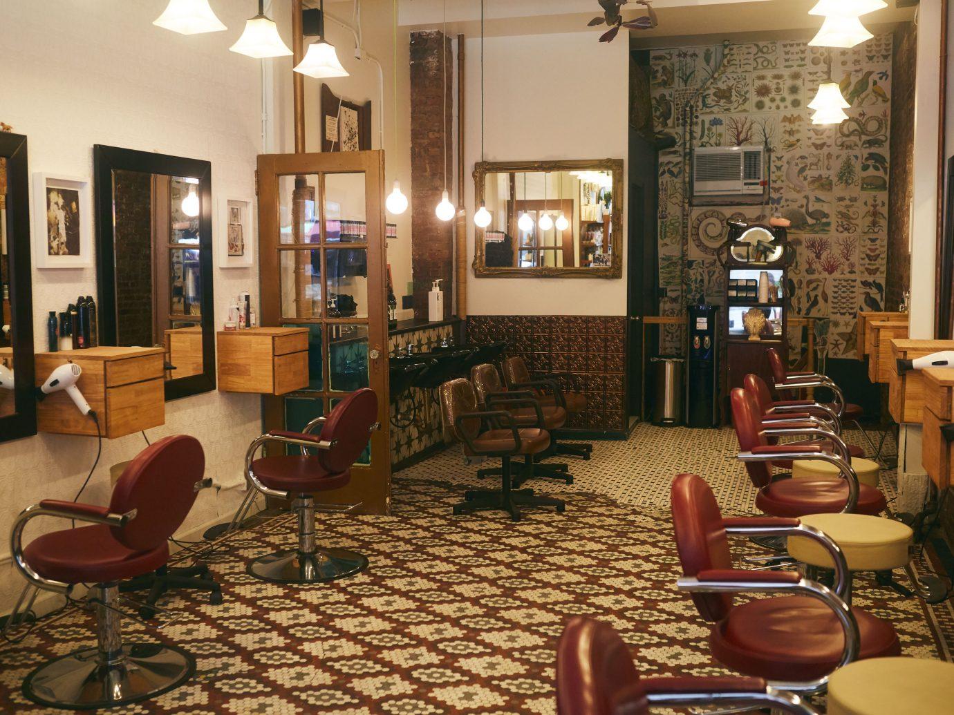 Interior of Fringe salon NYC