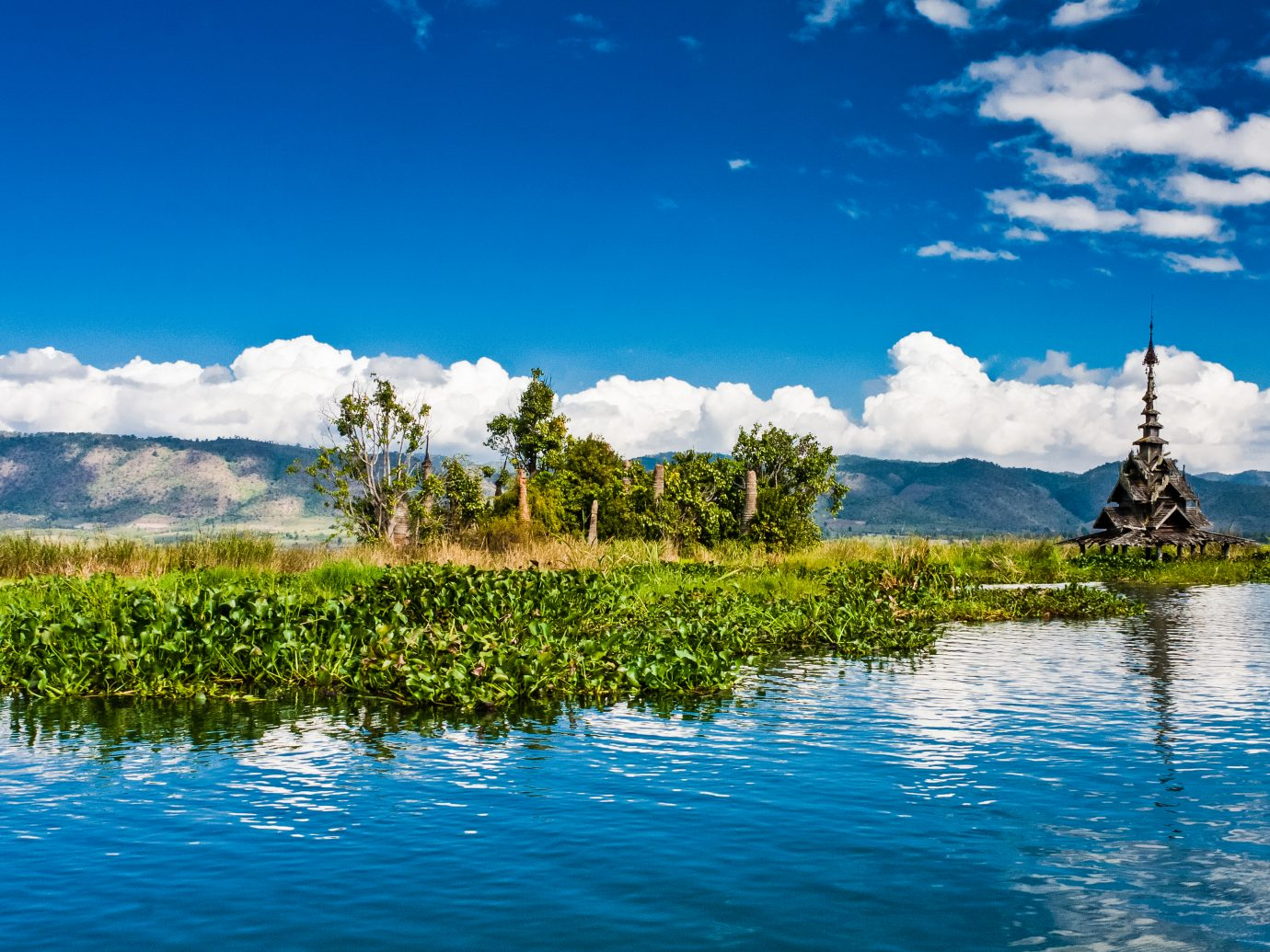 One of the historical and tourist landmarks of the Inle Lake