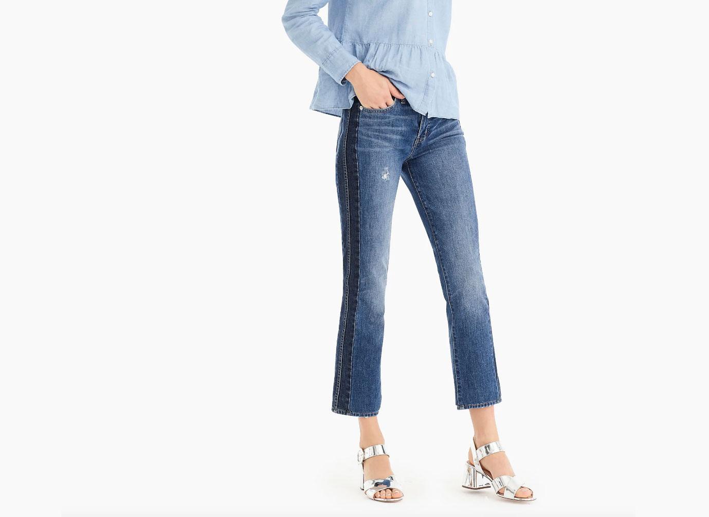 J.Crew Vintage Straight Jean in Two-Tone Denim