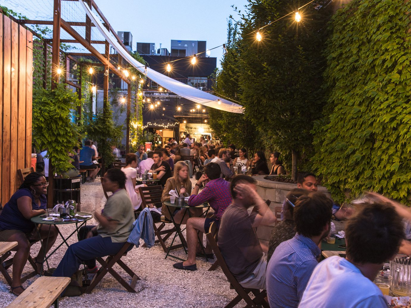 Outdoor space at Threes Brewing