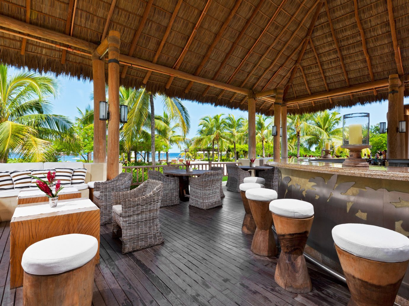 Outdoor bar at St. Regis Punta Mita