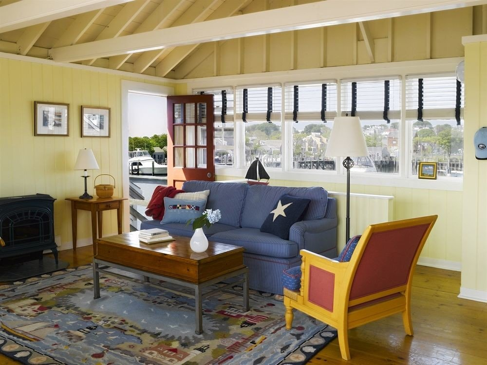 Living room at The Cottages and Lofts at Boat Basin Nantucket, MA