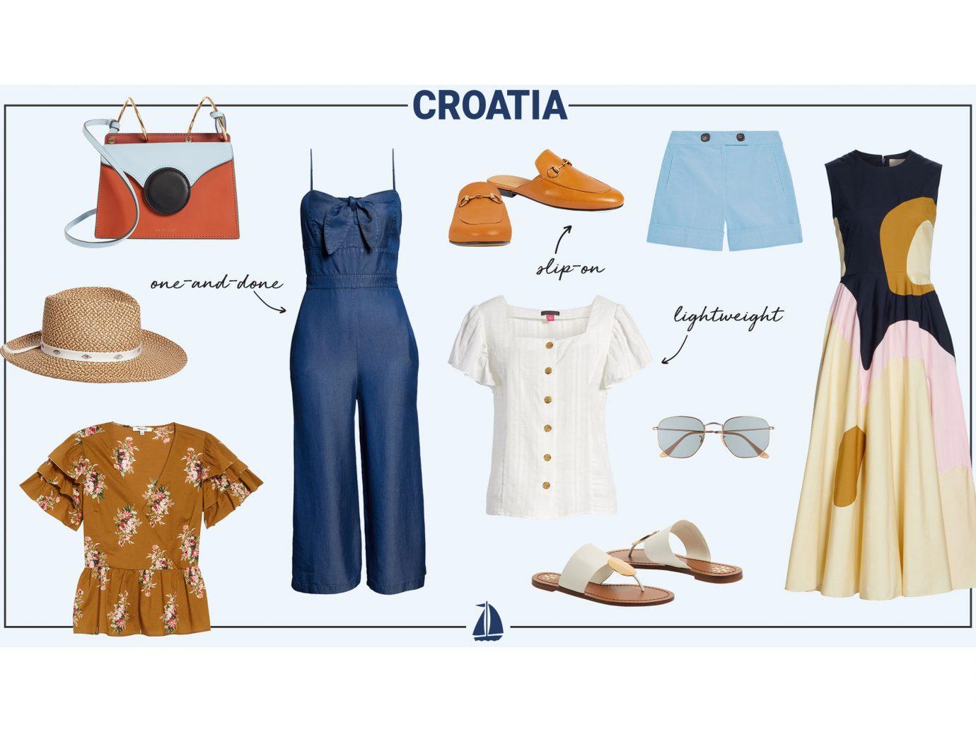 What to wear in Croatia collage - women
