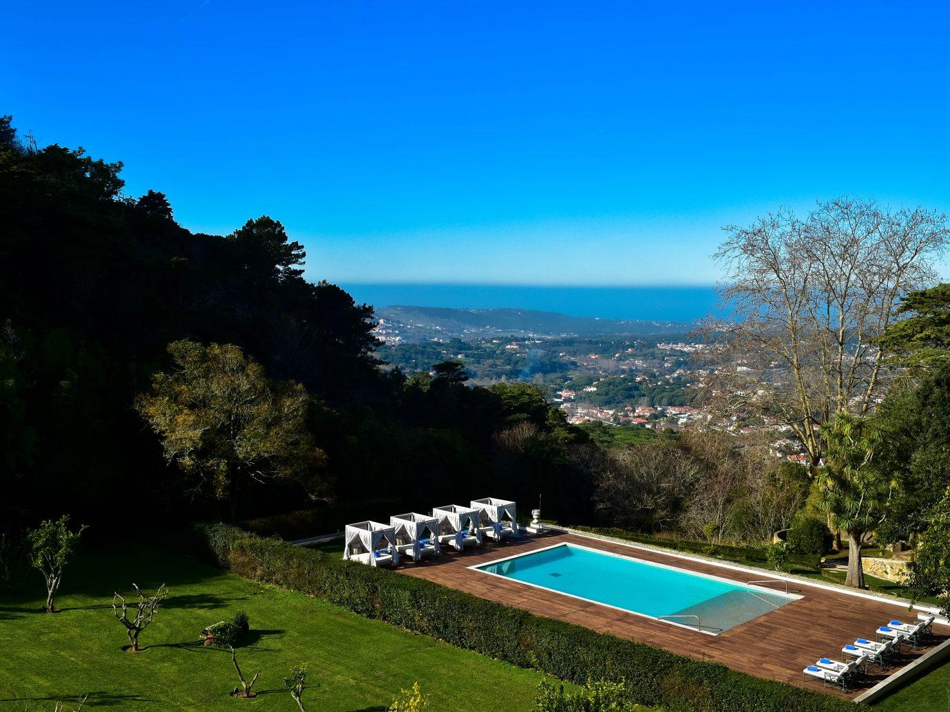Pool view at Tivoli Palacio de Seteais