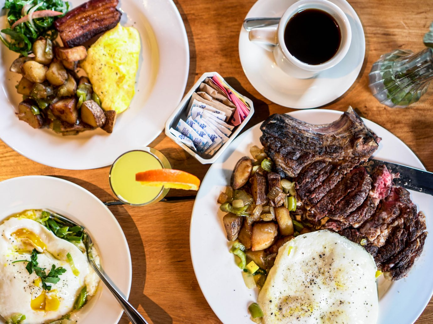 Brunch plates at Brooklyn Cider House