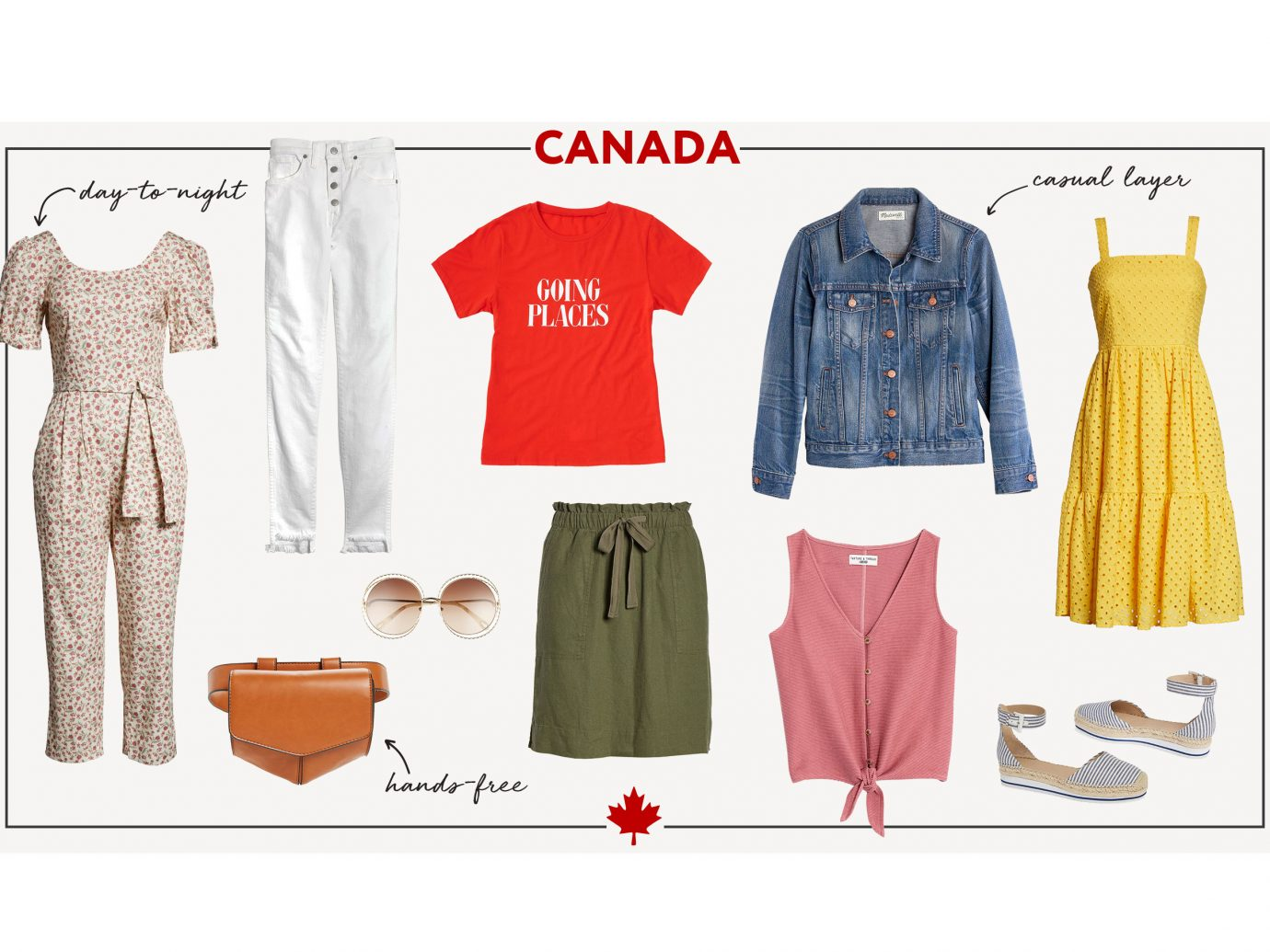 What to wear in Canada collage - women