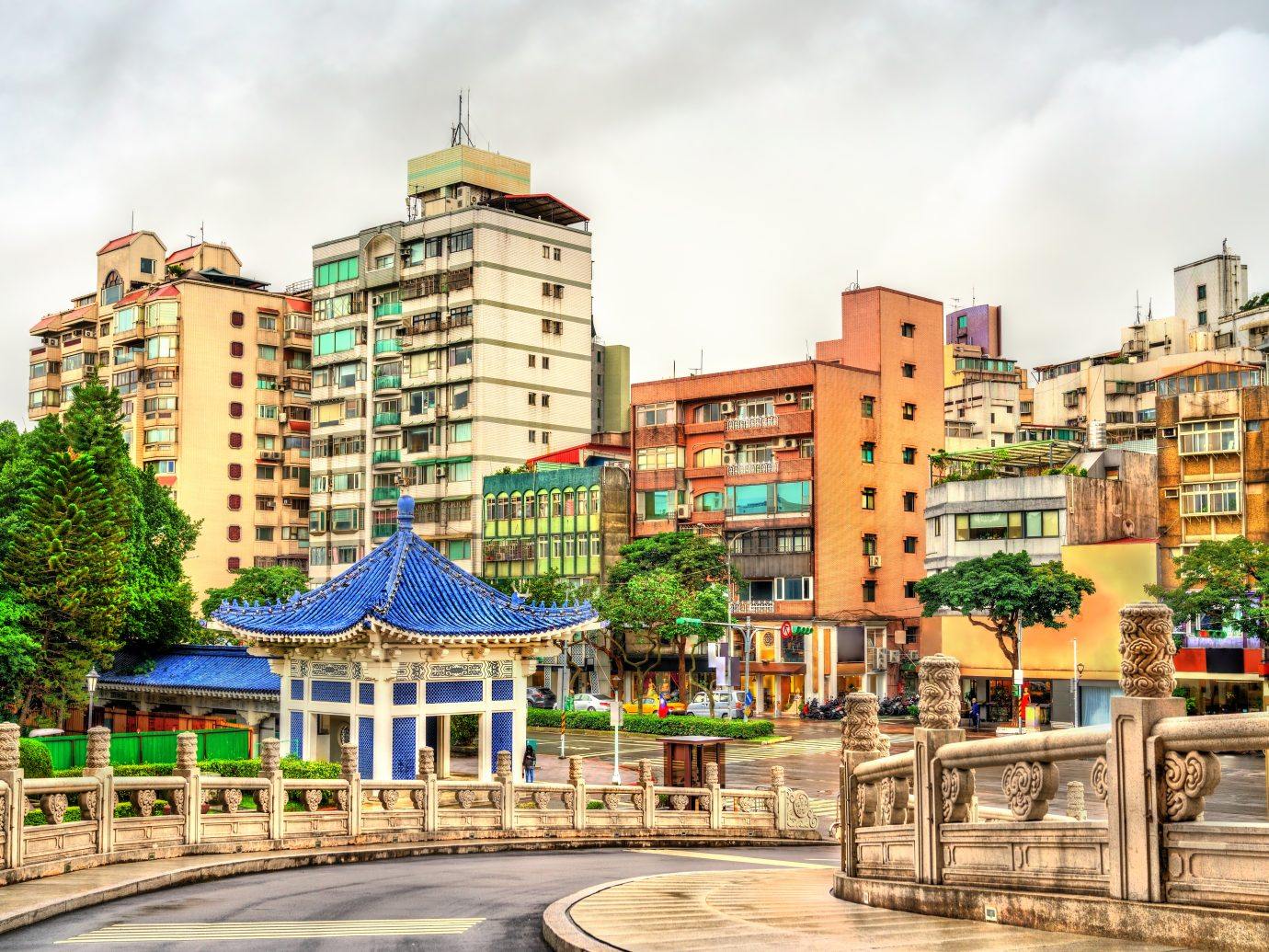 Typical buildings in Zhongzheng District of Taipei