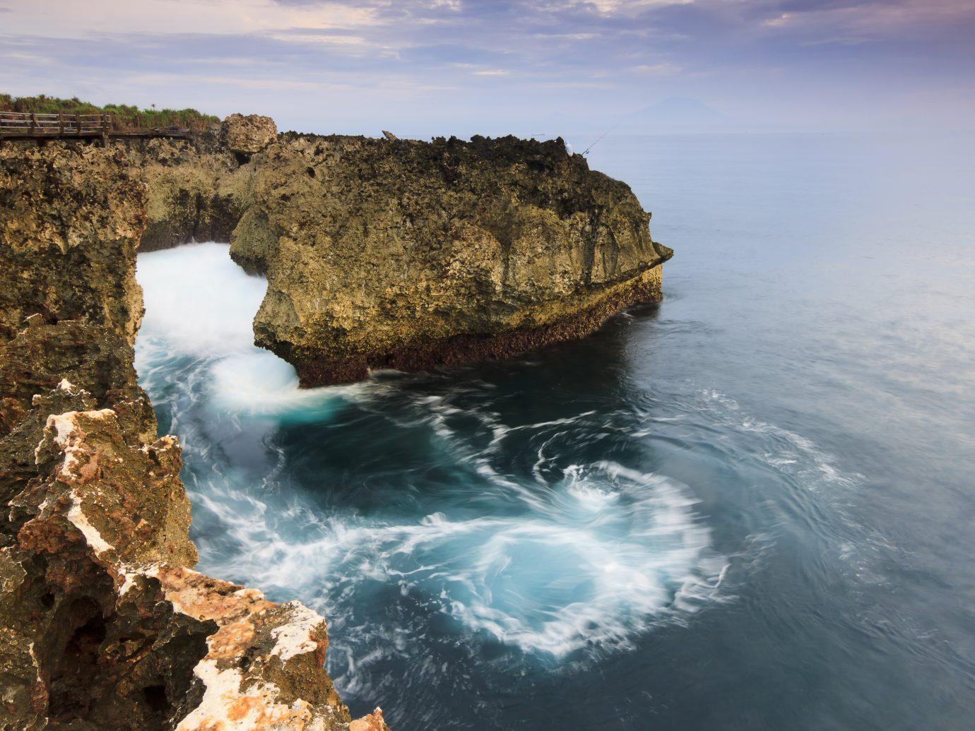 Coastal landscape at Water Blow, Bali, Indonesia