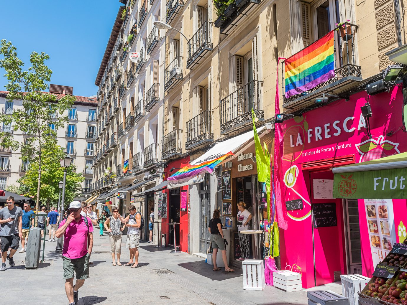People walking around Chueca in Madrid