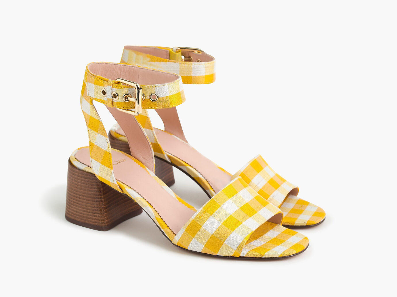 J.Crew Penny Ankle-Strap gingham Sandals sale