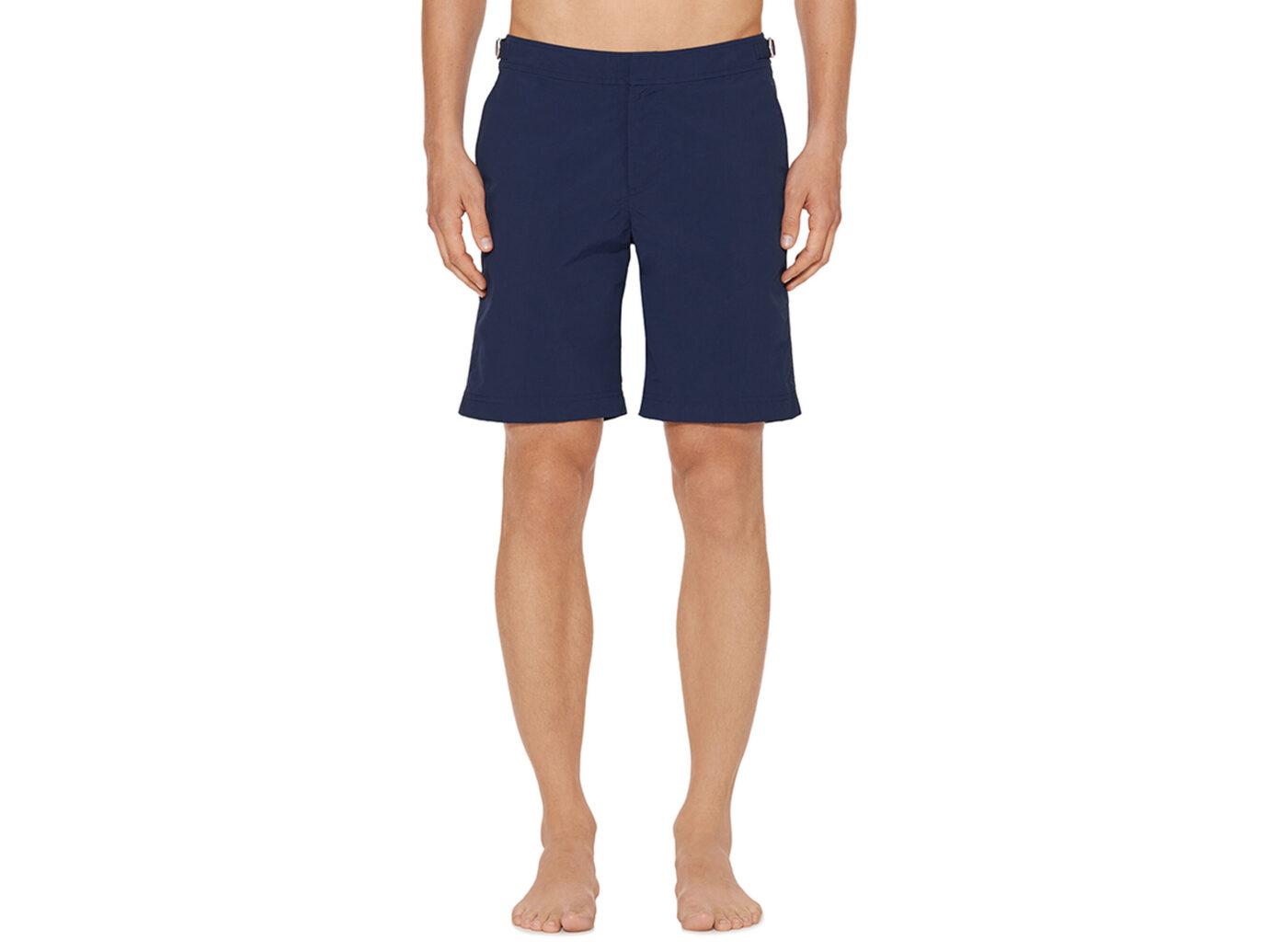 Orlebar Brown Dane Navy Longest-Length Swim Shorts