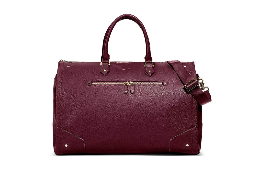 Hook and Albert Leather Garment Weekender Bag