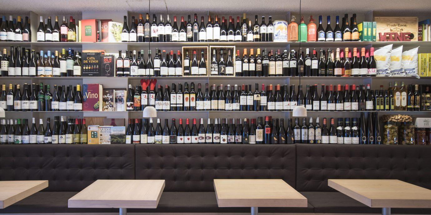 Wine bottles at Viblioteca in Barcelona