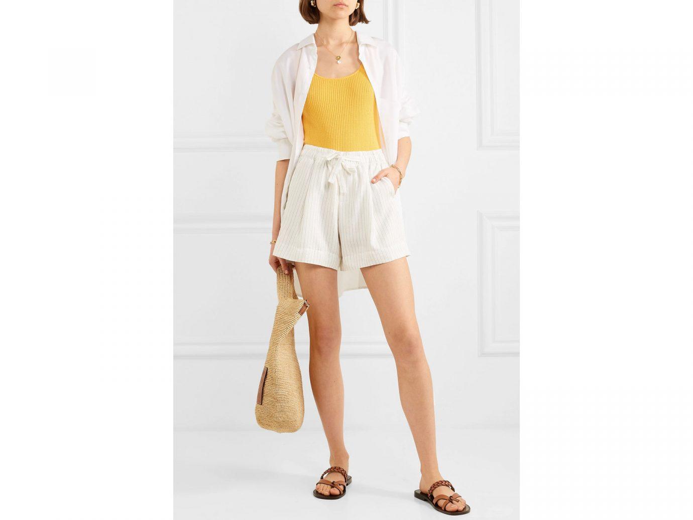 VINCE Pinstriped gauze shorts