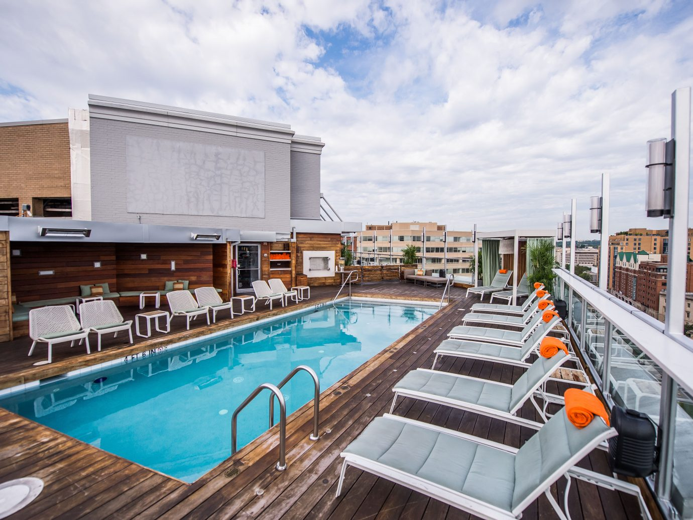 Rooftop pool at DNV in Washington DC