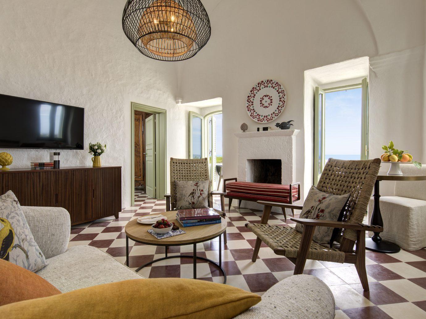Living room at Masseria Torre Maizza