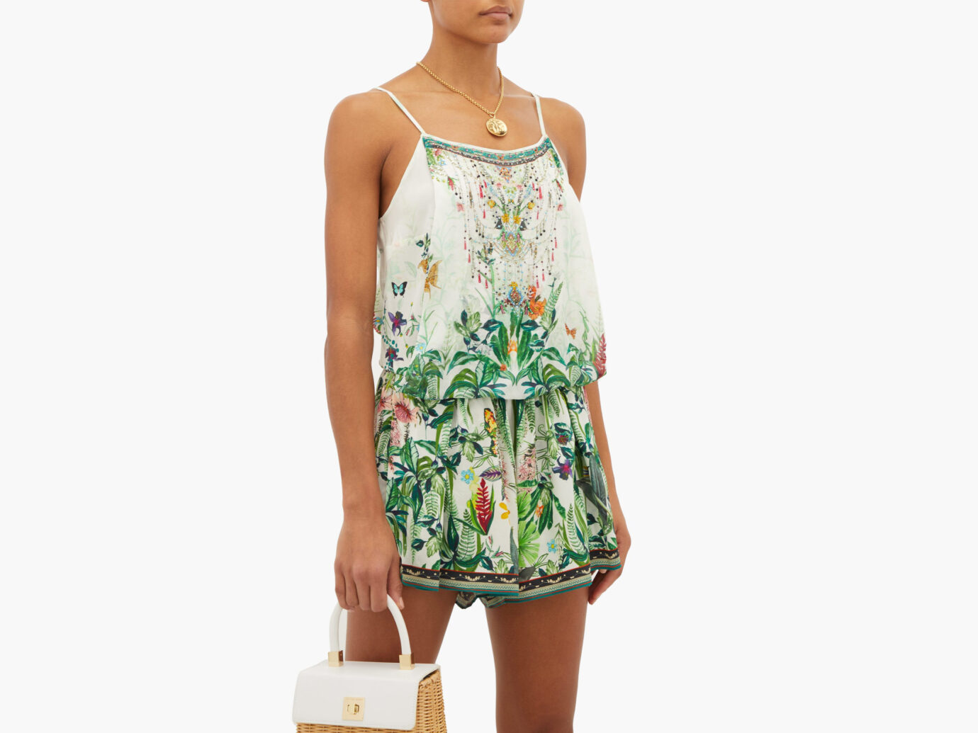 Camilla Daintree Darling Rainforest-Print Playsuit