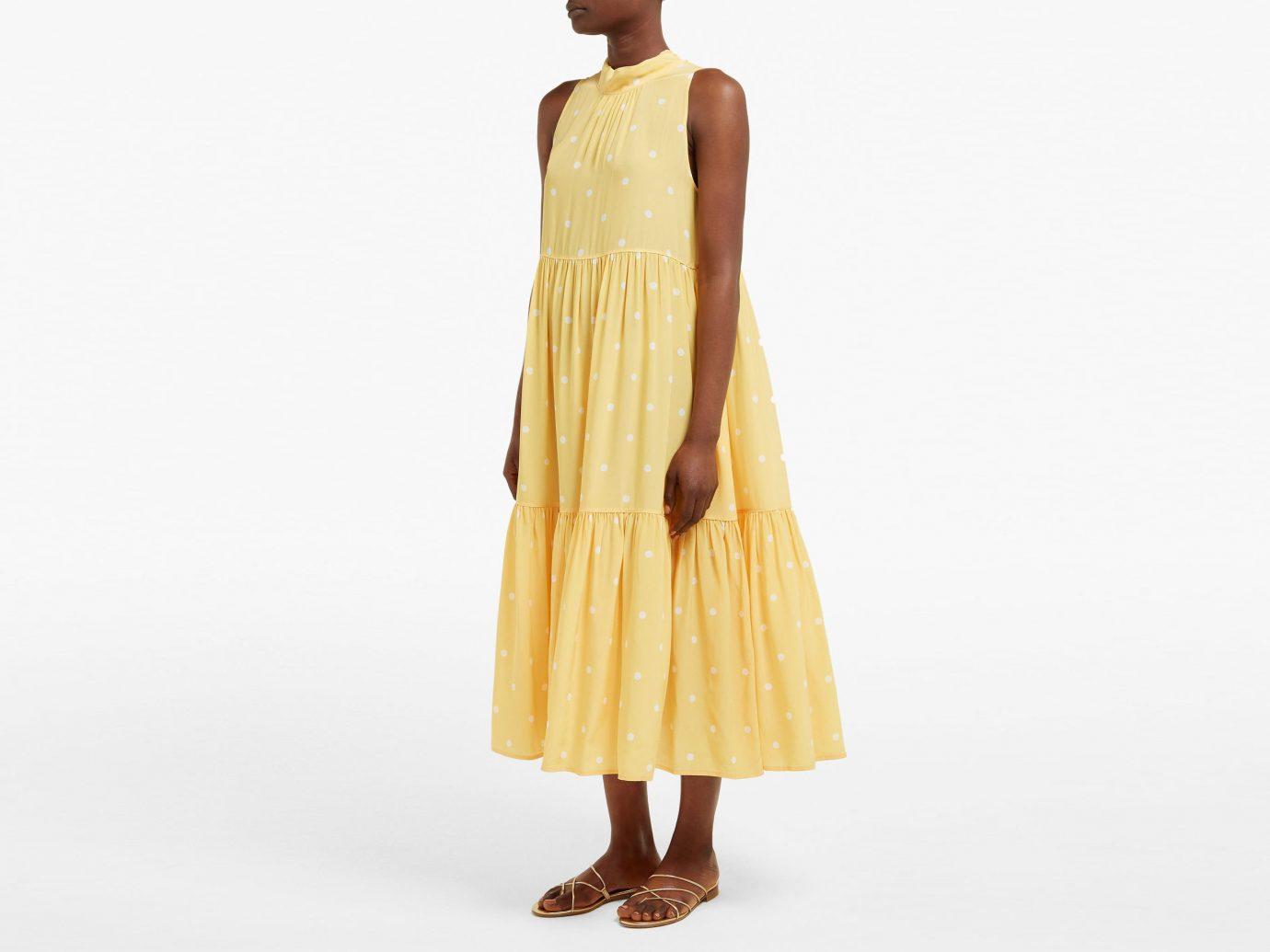 Asceno Polka-dot tiered silk-crepe midi dress