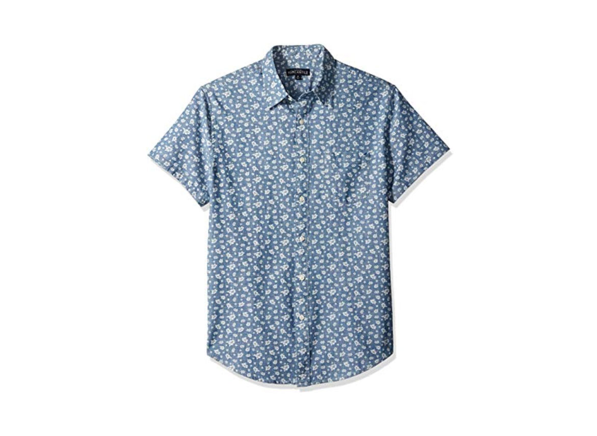 J.Crew Mercantile Men's Printed Chambray Shirt