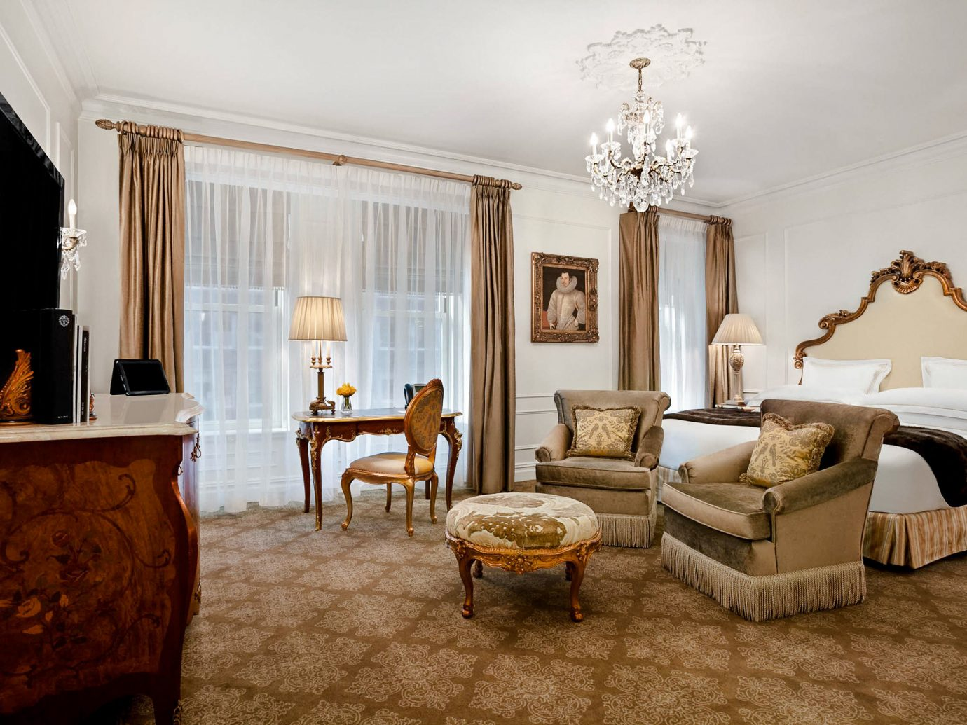 Bedroom at The Plaza in New York City