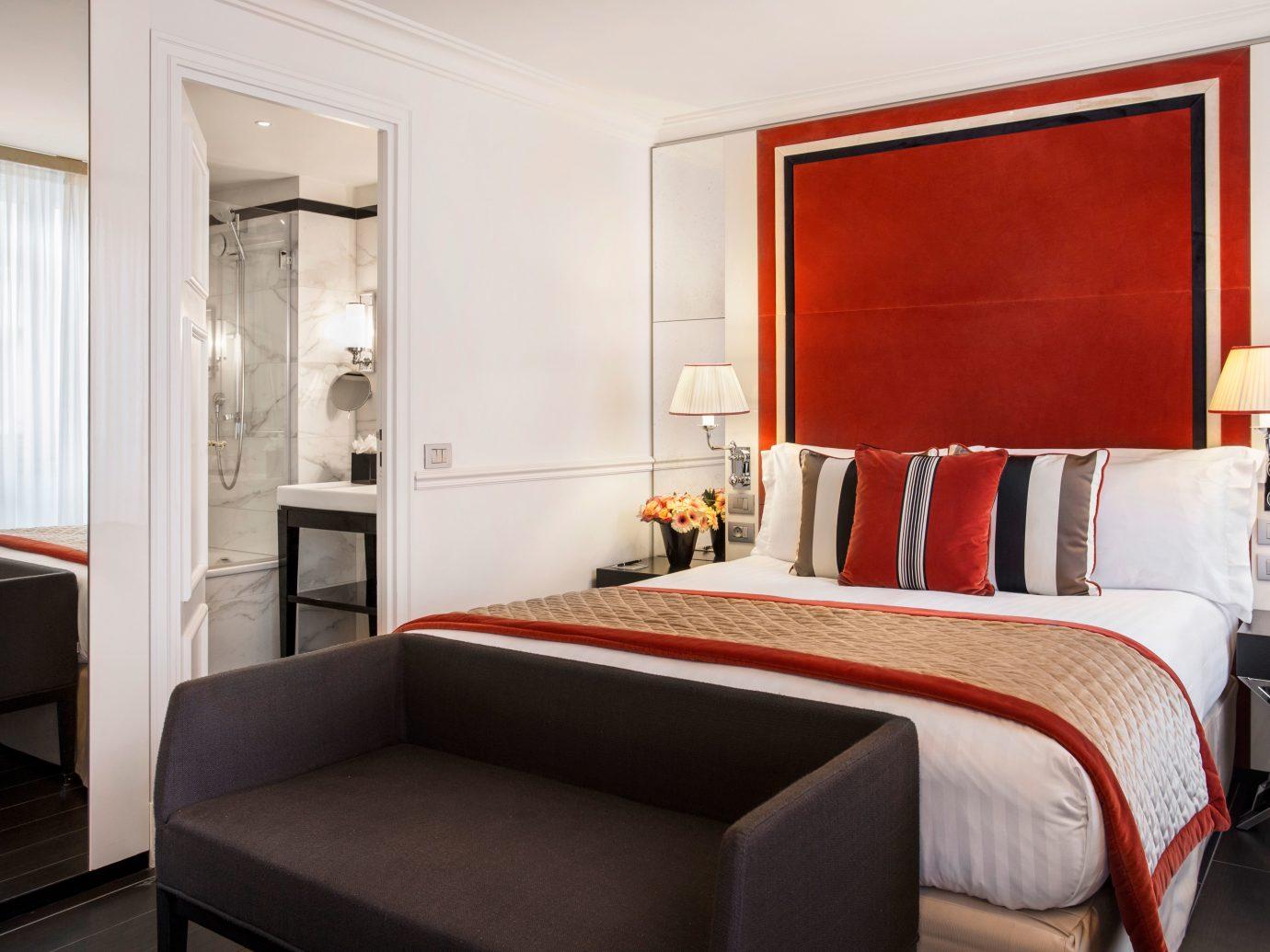Bedroom at Castille Paris