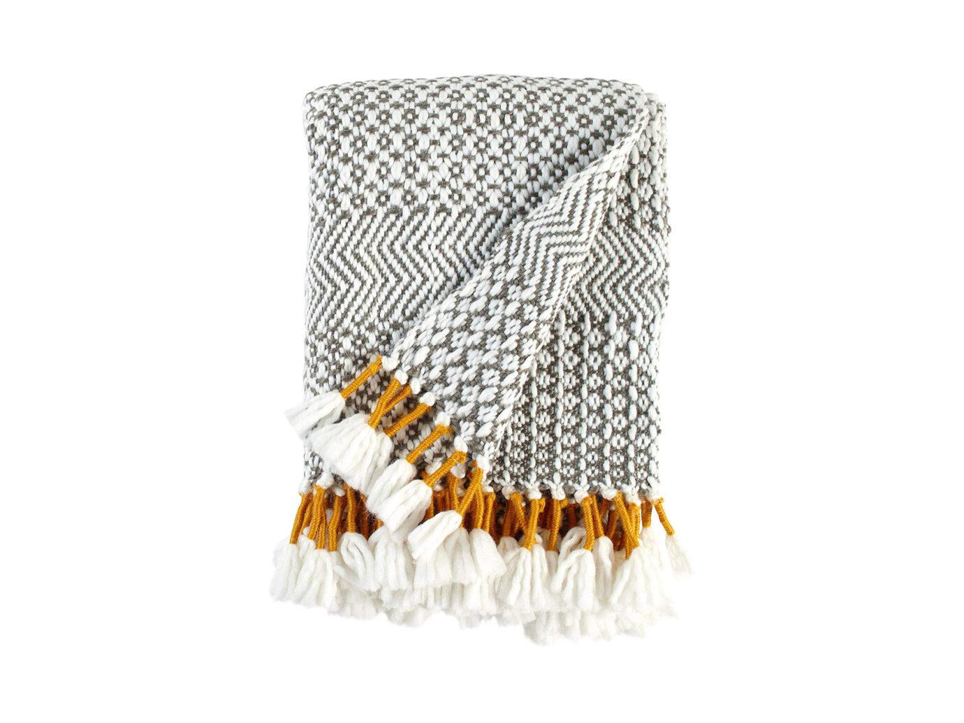 Rivet Modern Hand-Woven Throw Blanket