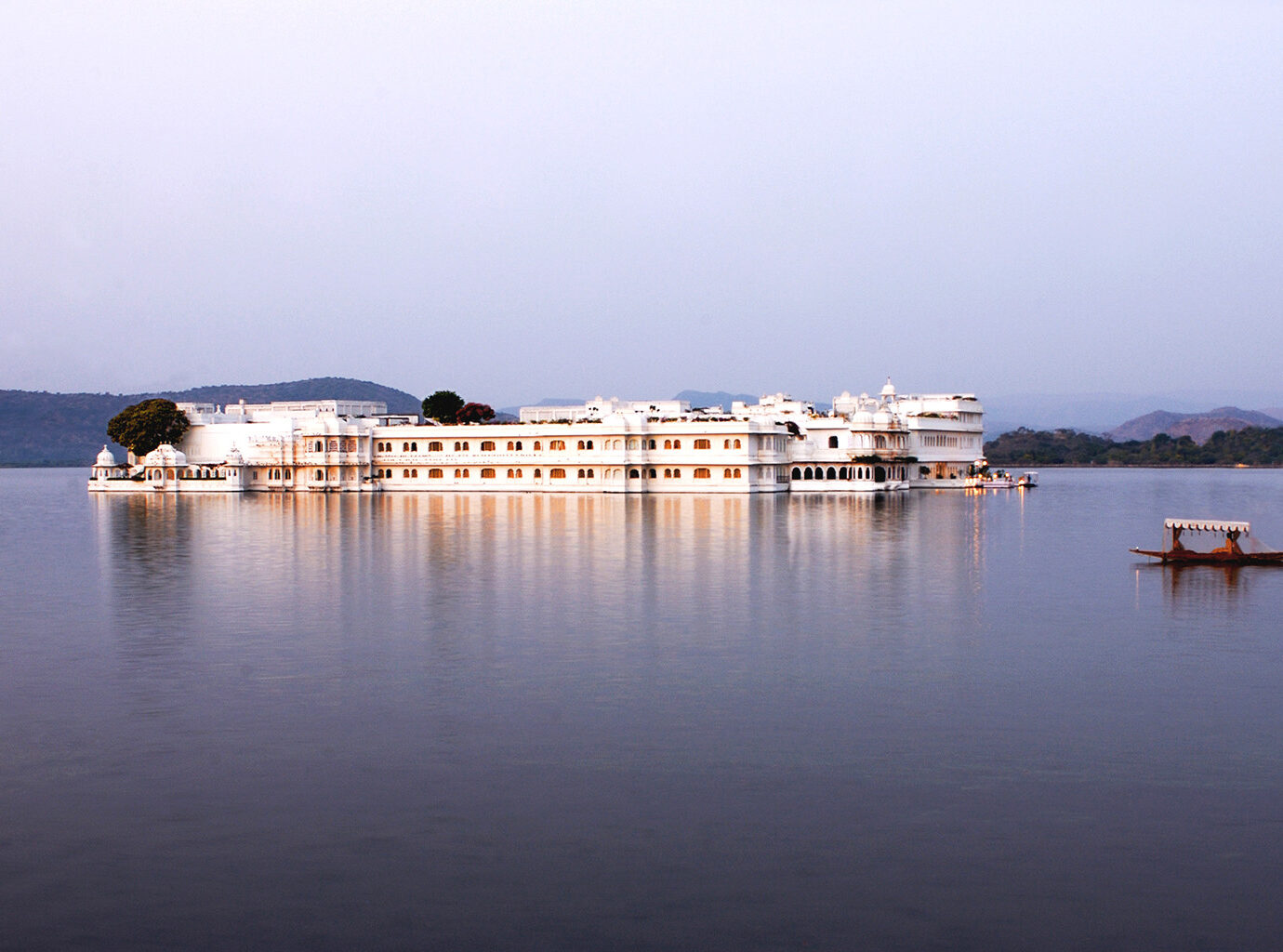 Exterior of the Taj Lake Palace in Udaipur
