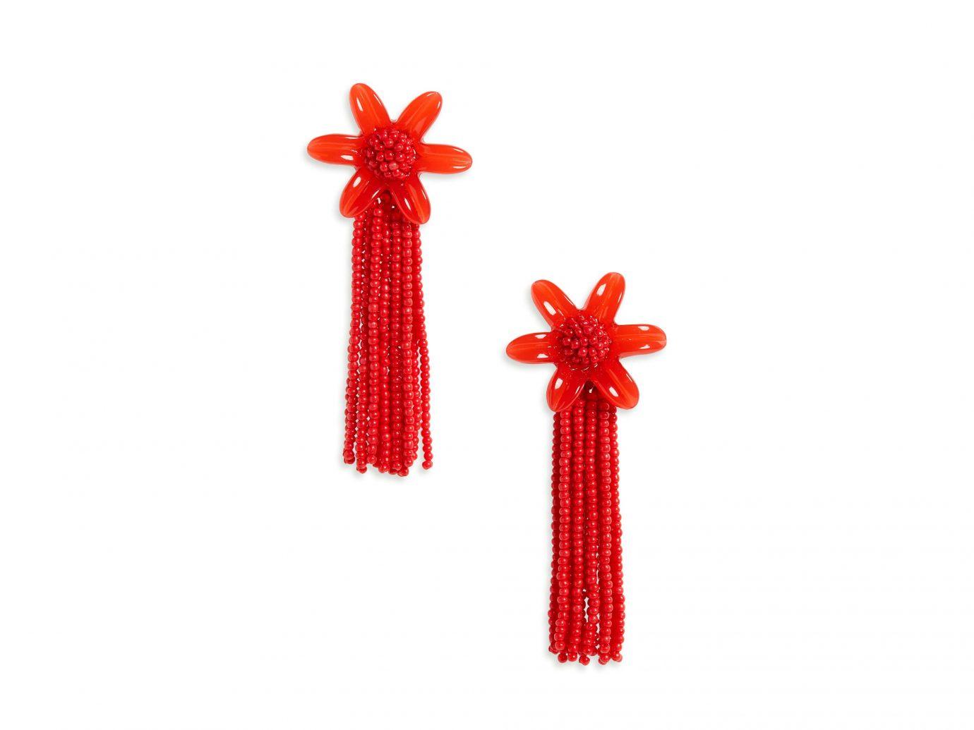Madewell Beaded Tassel Flower Earrings