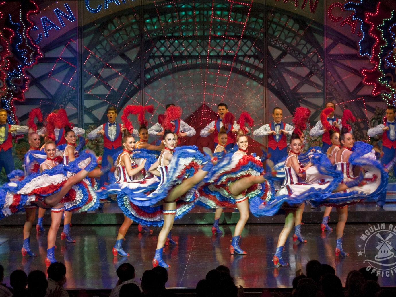 dancers at Moulin Rouge