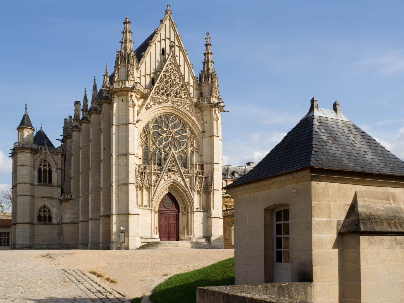 The Sainte-Chapelle, founded in 1379 inside the Vincennes Castle near Paris, France