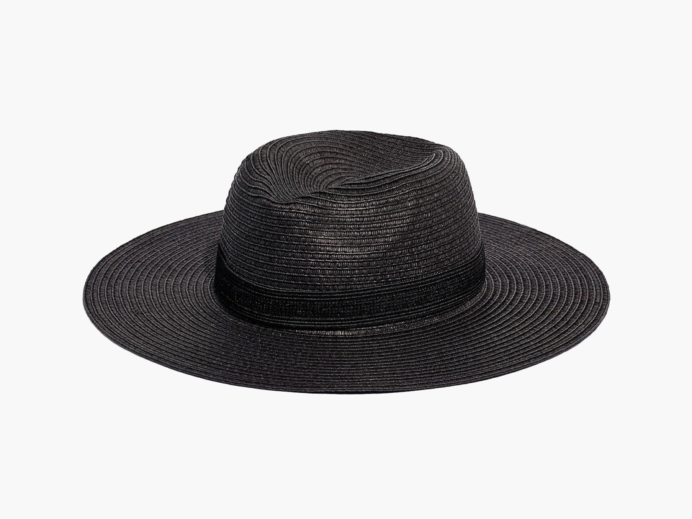 Madewell Packable Mesa Straw Hat in Black