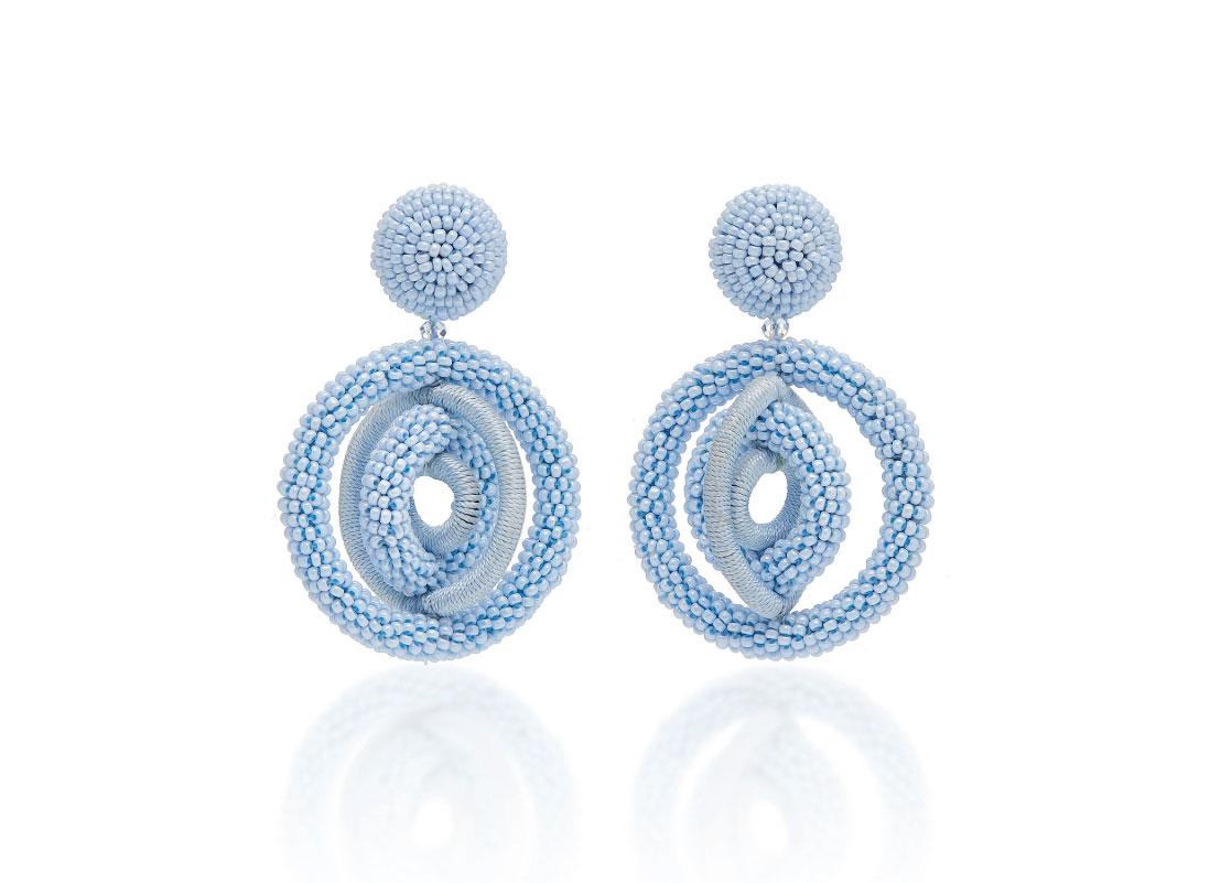 Click Product to Zoom Oscar de la Renta Beaded Gold-Tone Clip Earrings