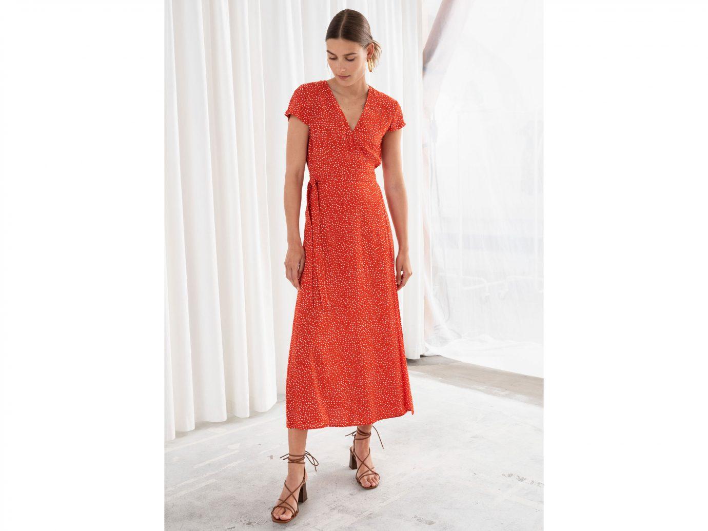 & Other Stories Polka Dot Midi Wrap Dress