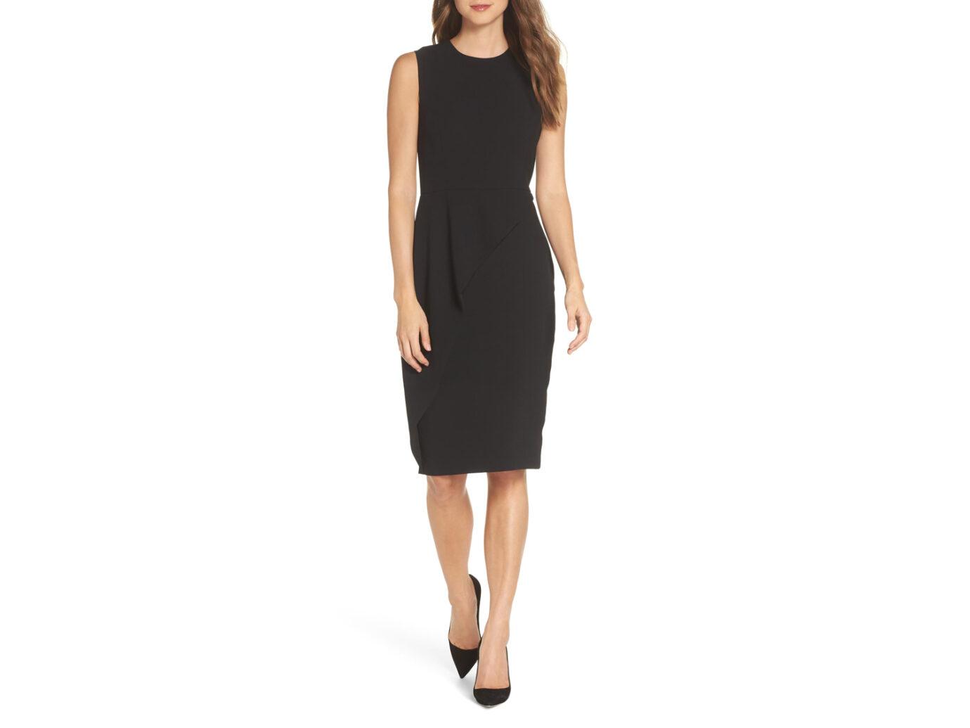 Eliza J Asymmetrical Ruffle Sheath Dress